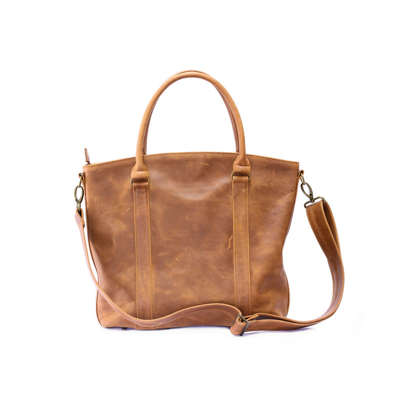 Mally Emma Leather Handbag | Toffee - KaryKase