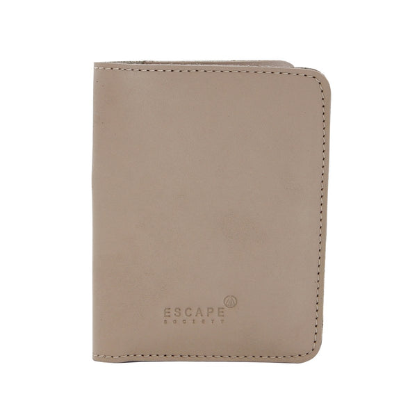 Escape Society Genuine Leather Passport Holder | Nude