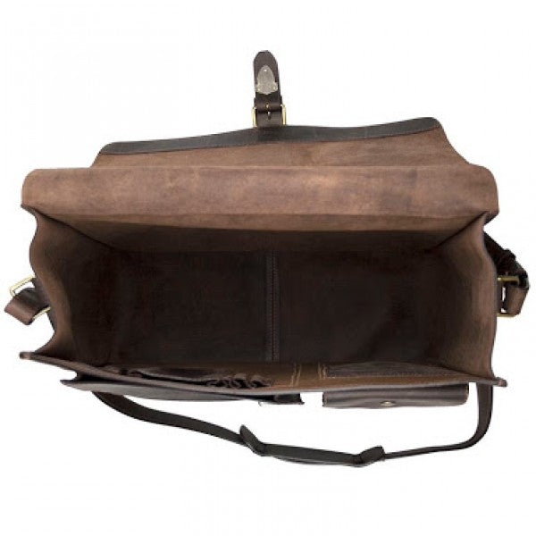 John Buck Leather Office Bag | Dark Brown - KaryKase