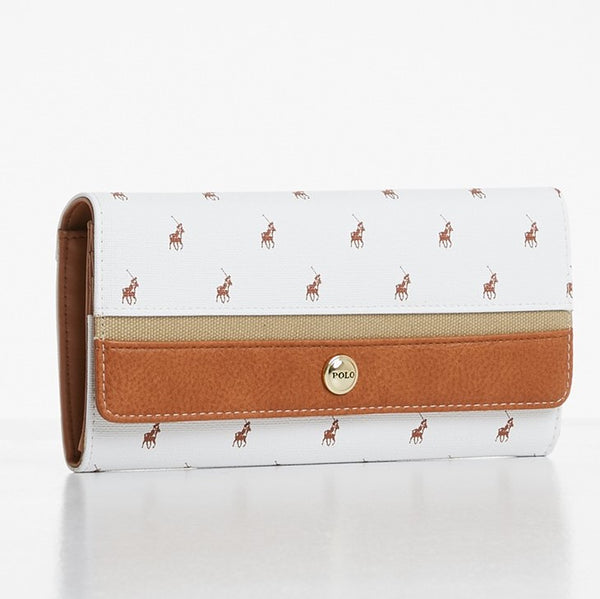 Polo Heritage Clutch Purse | White - KaryKase