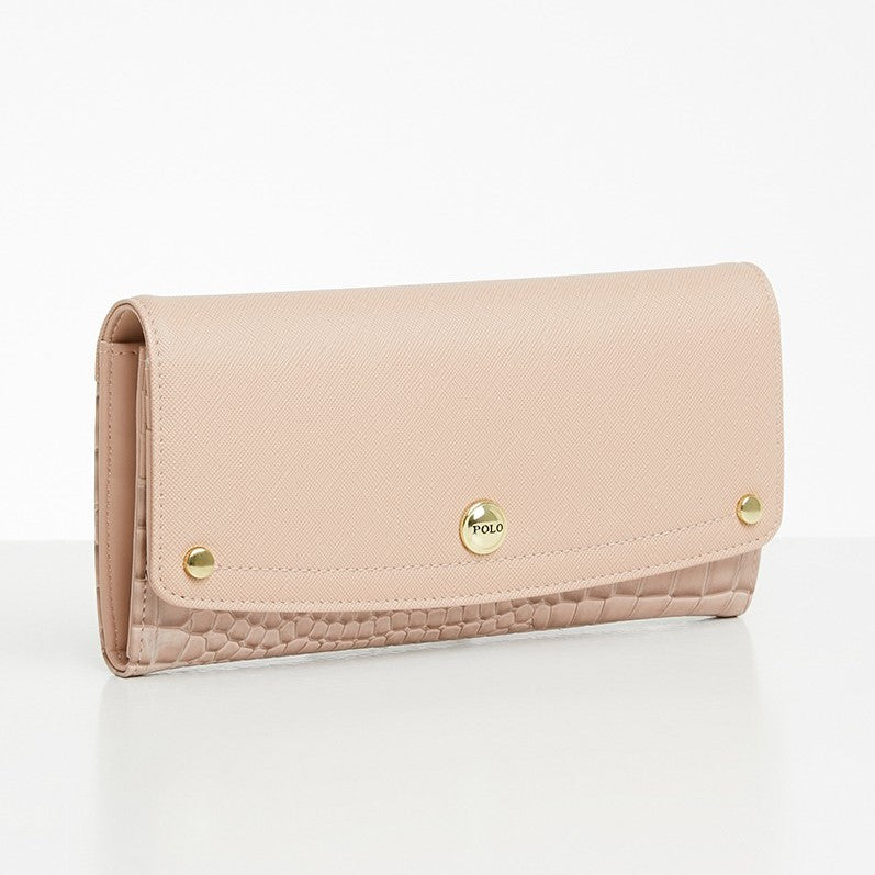Polo Winsor Clutch Purse | Pink - KaryKase