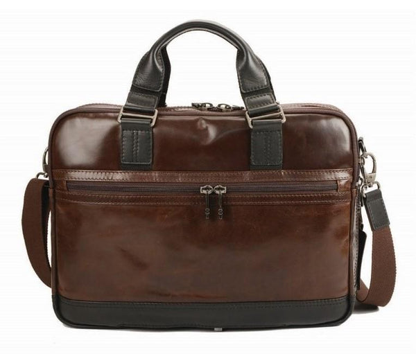 "Adpel Oslo 15.4""Leather Laptop Bag 