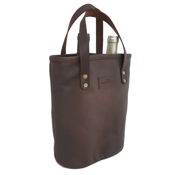 Bark And Mill Leather Wine Tote - KaryKase