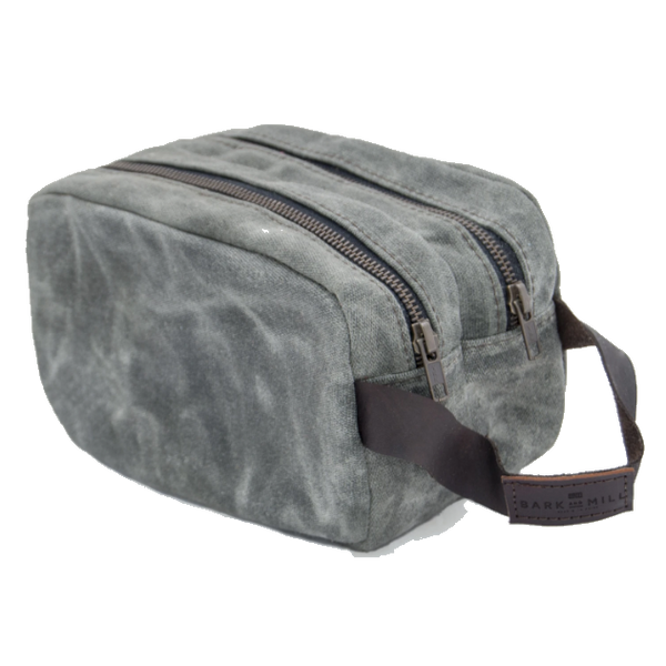 Bark And Mill Waxed Canvas Toiletry Bag | Atlantic - KaryKase