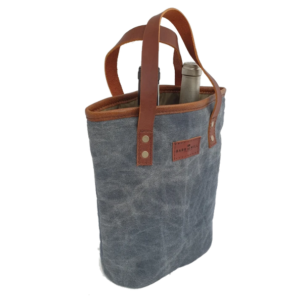 Bark And Mill Waxed Canvas Wine Tote - KaryKase