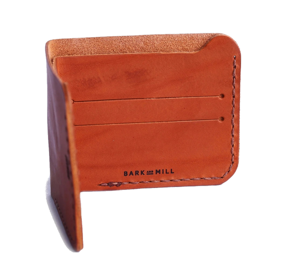 Bark And Mill Slim Bi-Fold Wallet | Chocolate - KaryKase