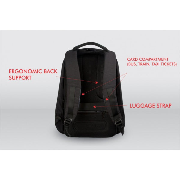 Pierre Cardin Phantom Anti-theft Laptop Backpack | Black - KaryKase