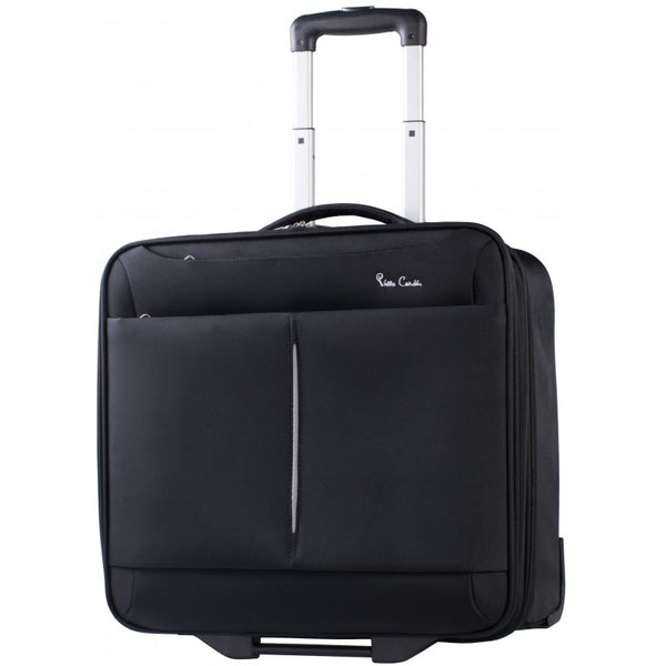 Pierre Cardin 17inch Laptop Trolley | Black - KaryKase