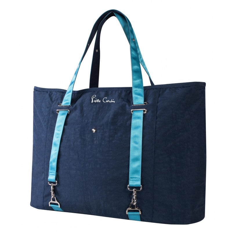 Pierre Cardin Multi Large Tote Bag | Blue - KaryKase