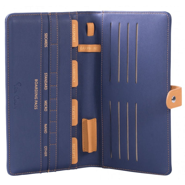 Pierre Cardin Practical Travel Wallet | Blue - KaryKase