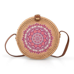 Tessa Design Pink Detail Wicker Bag - KaryKase