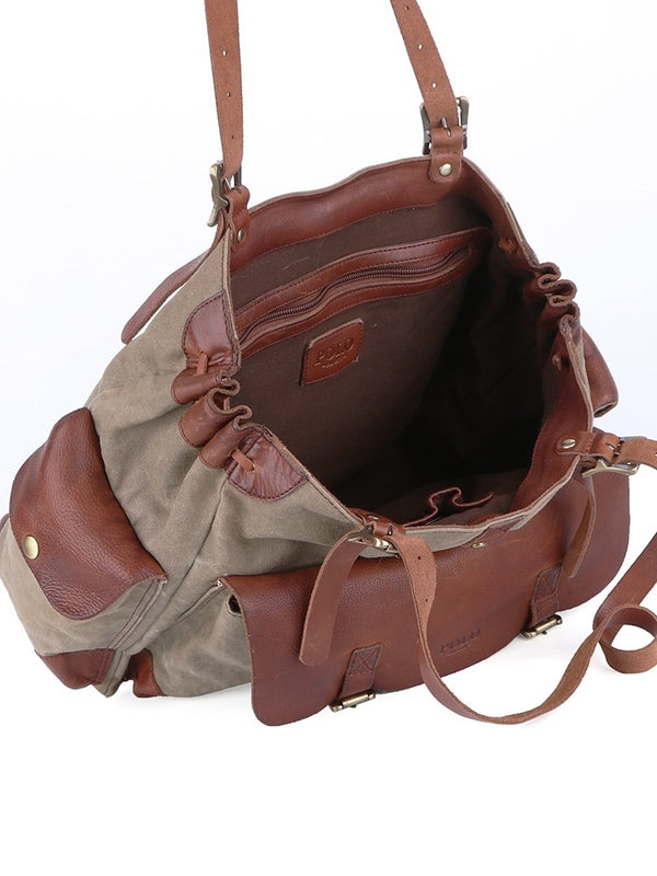 Polo Safari Canvas Satchel | Olive