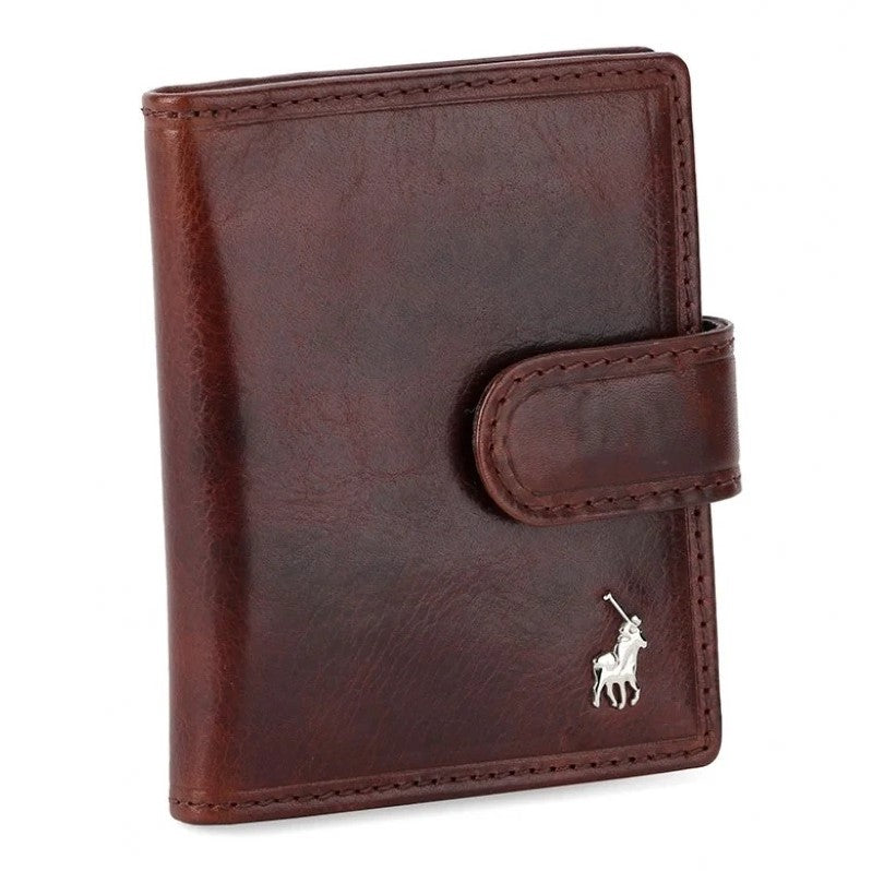 Polo Etosha Leather Card Holder With Tab | Brown - KaryKase