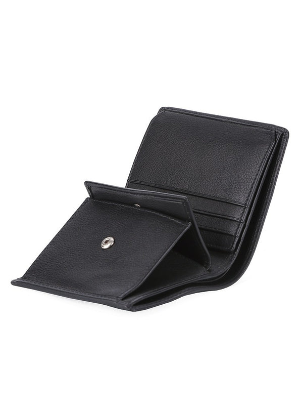 Polo Nappa Leather Billfold With Extra Card Flap Wallet | Black - KaryKase