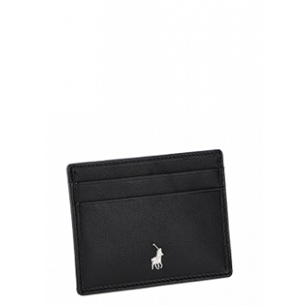 Polo Nappa Leather Small Money Clip Wallet | Black - KaryKase
