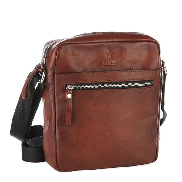 Polo Hudson Leather Sling Bag | Brown - KaryKase