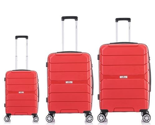 Tosca Rogue 3 Piece Luggage Trolley Set | Red - KaryKase