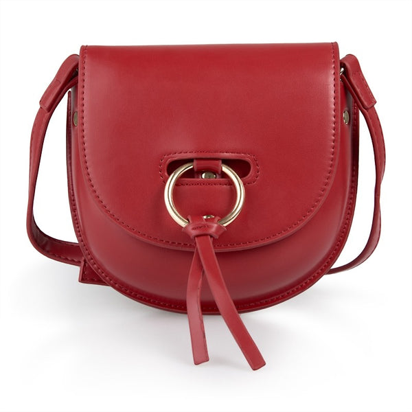 Tessa Design Faux Leather Bag | Red - KaryKase