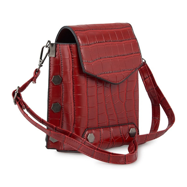 Tessa Design Faux Leather Mini Bag | Red