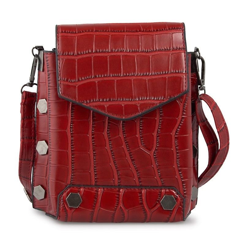 Tessa Design Faux Leather Mini Bag | Red - KaryKase