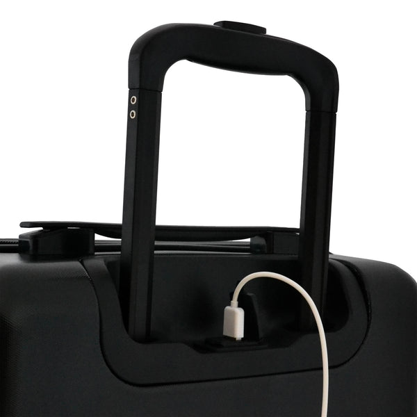Escape Society 55cm Carry-On Suitcase With Charging Port | Matte Black