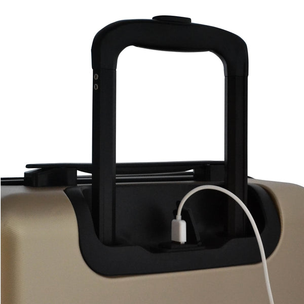 Escape Society 55cm Carry-On Suitcase With Charging Port | Matte Gold