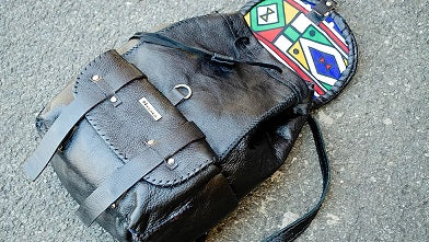 Mebala Handmade Boipelo Laptop Backpack | Black - KaryKase