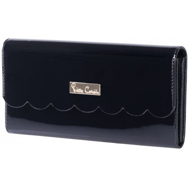 Pierre Cardin Scalloped Purse | Black - KaryKase