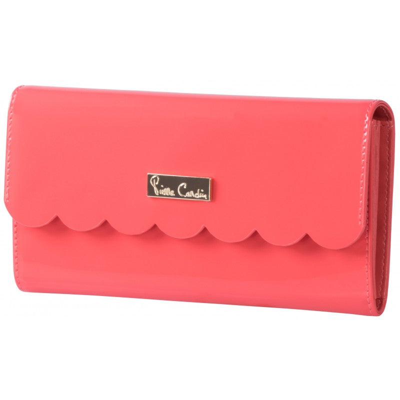 Pierre Cardin Scalloped Purse | Coral - KaryKase