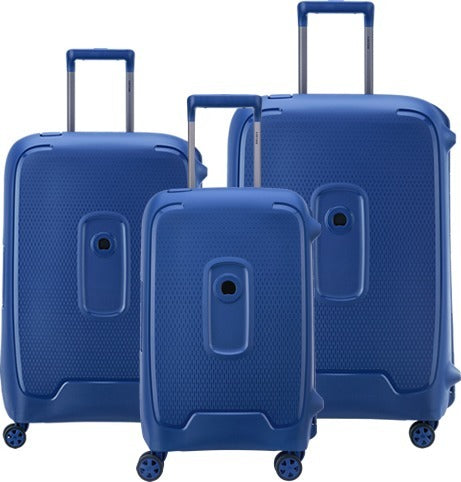 Delsey Moncey 3 Piece Luggage Set | Blue