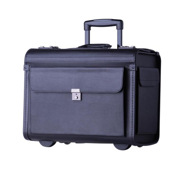 "Tosca PVC 17"" Laptop Pilot Case With Wheels 