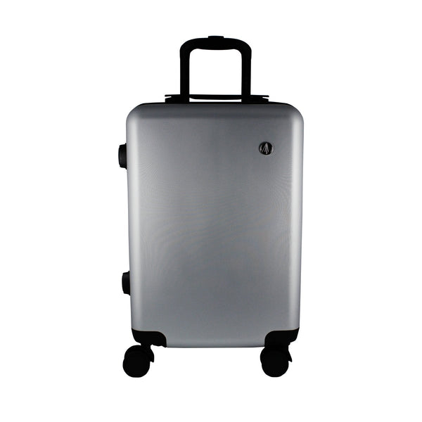 Escape Society 55cm Carry-On Suitcase With Charging Port | Matte Silver