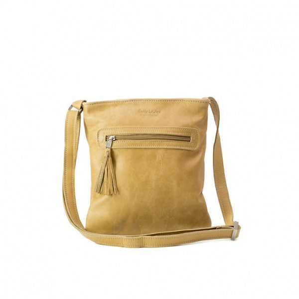 Emily Louise Small Leather Messenger Handbag | Hazelnut - KaryKase