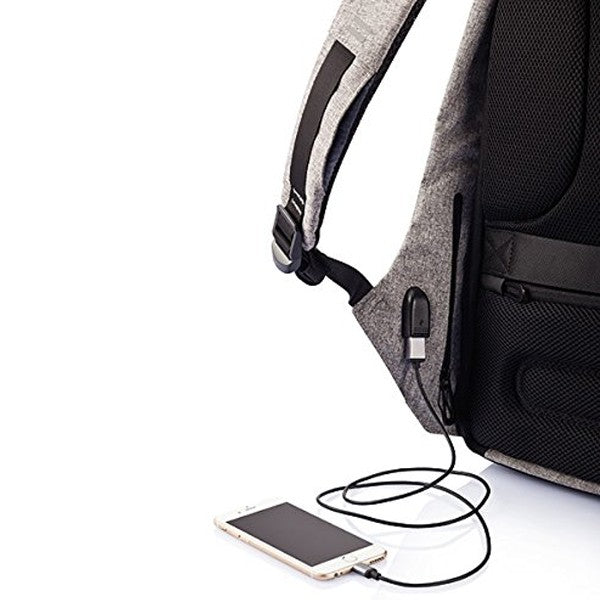 Volkano Smart Anti-theft Laptop Backpack | Charcoal