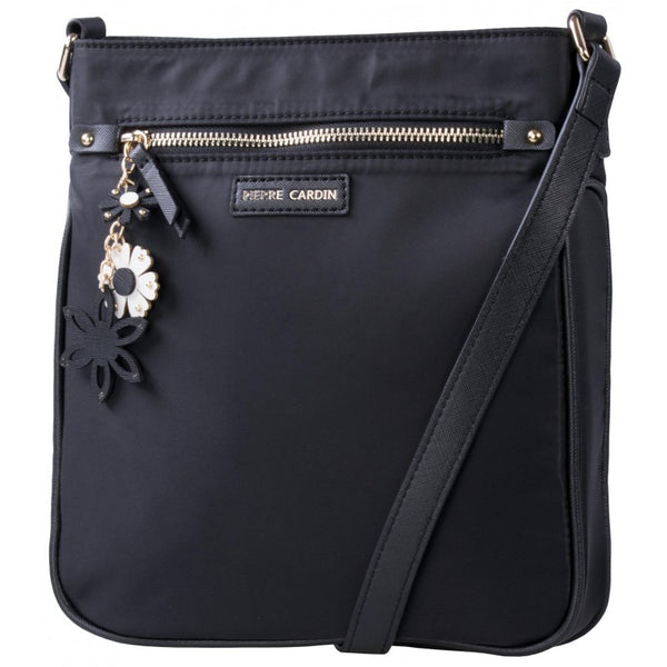 Pierre Cardin Sofia Nylon Crossbody Bag | Black - KaryKase