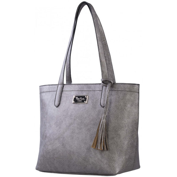 Pierre Cardin Spencer Tote | Metallic Pewter Grey - KaryKase