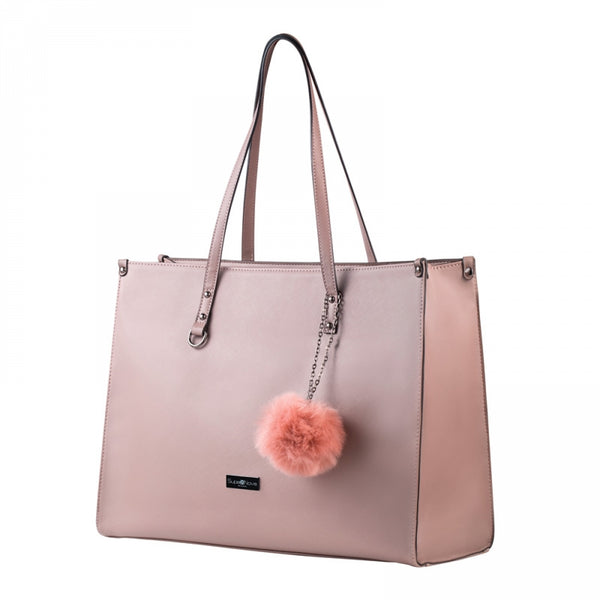 Supernova Pompom Ladies Laptop Bag | Dusty Pink - KaryKase