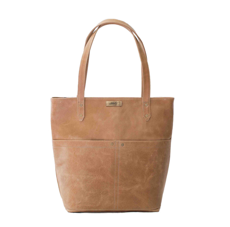 Mally Betty Leather Handbag | Tan - KaryKase