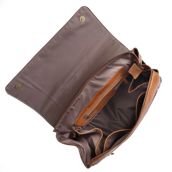 Mally Bebe Leather Baby Backpack | Toffee - KaryKase