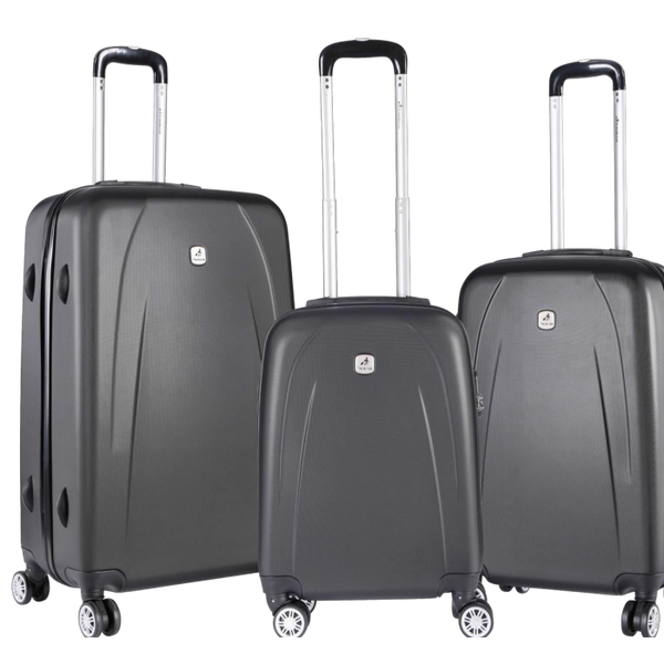 Travelwize Stratus ABS 3 Piece Set | Dark Grey - KaryKase