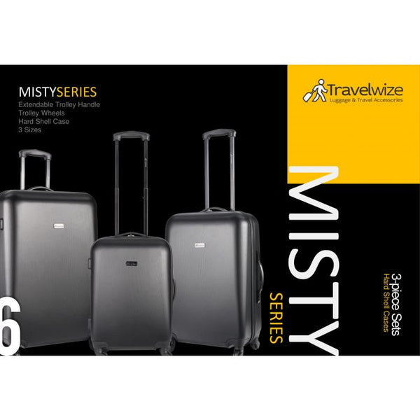 Travelwize Misty 3 Piece Set | Black - KaryKase