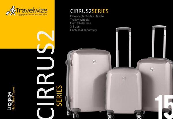 Travelwize Cirrus 2 - 3pc Spinner Set | Grey/Champagne