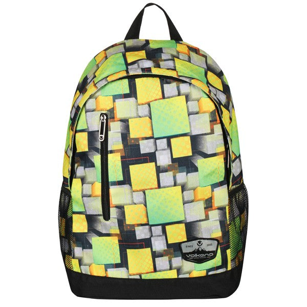 Volkano Two Squared Series Backpack | Green