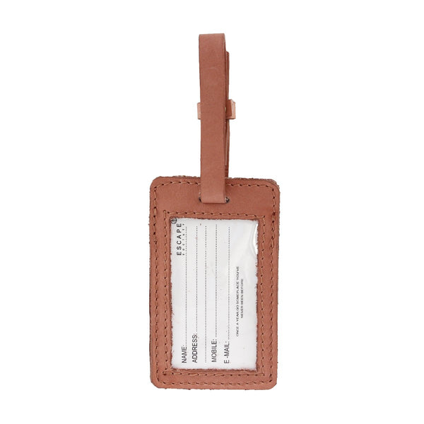 Escape Society Utility Leather Luggage Tag | Dusty Pink