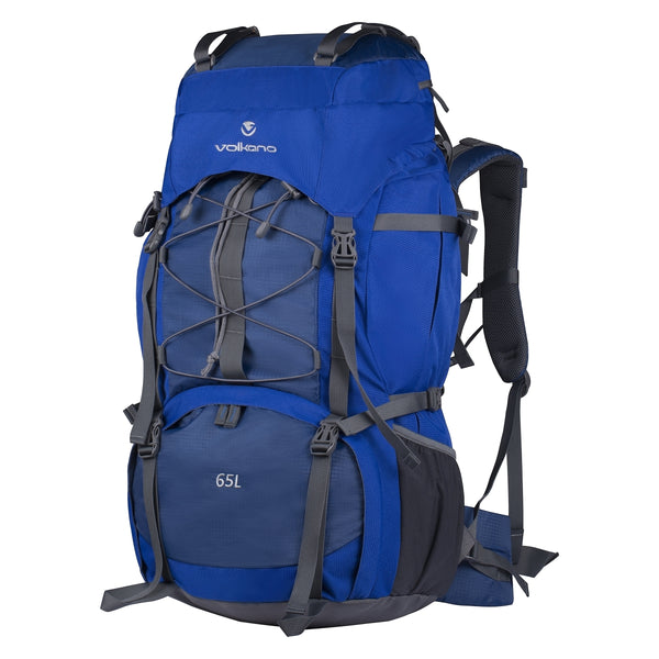 Volkano Icepick 65L Hiking Backpack | Blue - KaryKase