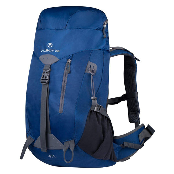 Volkano Glacier 45L Hiking Backpack | Blue - KaryKase