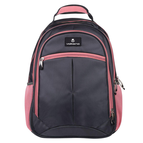 Volkano Orthopaedic Backpack 27L | Dark Grey/ Pink - KaryKase