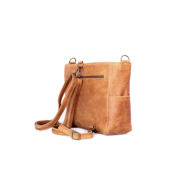Mally Leather Baby Backpack | Toffee - KaryKase