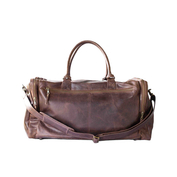 Mally Philip Leather Travel Duffel Bag | Brown