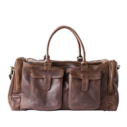 Mally Philip Leather Travel Duffel Bag | Brown - KaryKase